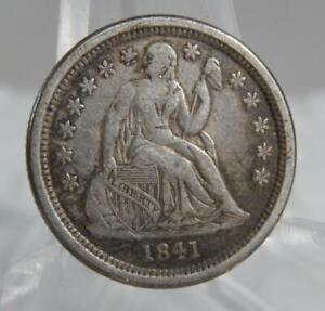1841-O US Seated Liberty Silver Dime 10 Cents 10C VF+ Coin C2701