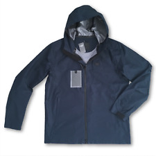 Abercrombie and Fitch Waterproof Rain Jacket Navy - Small RRP £120