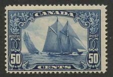 Canada 1929 KGV Scroll Bluenose 50c blue #158 MNH