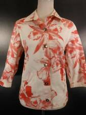 Beautiful Women's Size 1 Chico's Additions Floral Watercolor LS Button Jacket
