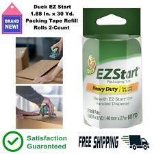 2 Count Clear Packing Tape Refill Rolls 188 In X 30 Yd Duck Brand Ez Start