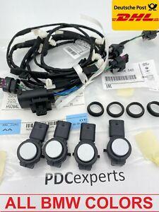 4X new original BMW 1' 3' 4' F30 F31 F32 parking ultrasonic sensors PDC + wiring