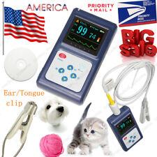 VET Heart Pulse Oximeter Veterinary Tongue/Ear SpO2 Clip Blood Oxygen Monitor,US