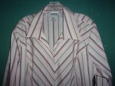 Pink and brown striped  blouse /  top    Size 3X