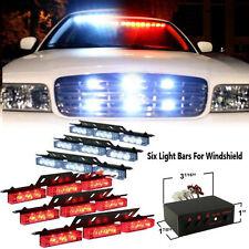 54 LED Red white Car Emergency Strobe Flash Warning Light Deck Dash Grille