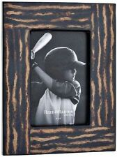 "Reed & Barton Logan 4"" x 6"" Photo Frame Wood Grain Inlaid Coco Twigs #9846"