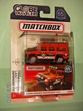 MATCHBOX 2018  Land Rover Defender 110  GLOBE TRAVELERS  65th ANNIVERSARY