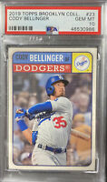 2019 Topps Brooklyn Collection CODY BELINGER PSA 10 POP 1 GEM MINT LA DODGERS