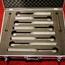 Snow crystal tuning fork chakra set C4 D E F G A B C5 with aluminium alloy box