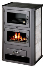 Wood Burning Stove WIth Oven Fireplace Cooker Solid Fuel Log Burner 17 kw