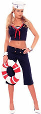 First Mate Womens Sexy Sailor Halloween Costume NEW sz XL Elegant Moments Navy