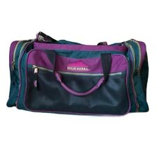 Vintage High Sierra Green & Purple Durable Duffel Bag with 6 Pockets