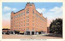 Richmond Indiana Leland Hotel Huge Tree Shady Street 1940s Linen