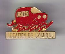 RARE PINS PIN'S .. AUTO CAR LOCATION RENTAL AVIS CAMION TRUCK VAN UTILITAIRE ~DK
