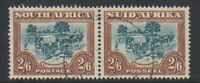 South Africa - 1949, 2s6d Green & Brown - Horizontal Pair - F/U - SG 121