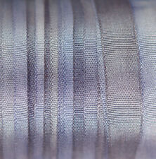 Blue Silk Ribbon 7mm 100% Pure Embroidery - 3 mtrs Hand Dyed Dusty Blue