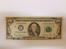 Series 1981 US One Hundred Dollar Note Bill $100 Philadelphia C02499948A -(AU)