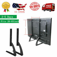 26-65inch Flat Screen TV Stand Adjustable Height Desktop Table Top Mount Bracket