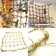 Parrot Birds Climbing Net Parakeet Thick Jungle Swing Play Rope Ladder Chew Toy
