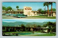 Palm Desert CA, Biltmore Hotel, Pool, Classic Cars, Chrome California Postcard