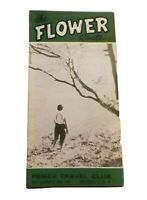 1959 The Flower Route Mexico Pemex Travel Club Brochure Vintage Native American