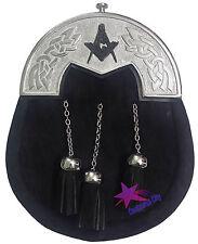 Kilt Écossais Escarcelle Noir Bovine Cantle Celtique/Kilt De Mens Sporrans