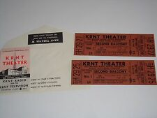 Buddy Rich 1969 Unused Concert Tickets With Will Call Envelope Krnt Theater Iowa