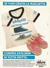 W5559 CHICCO - Scarpe Explorer - Maglietta - Pubblicità 1984 - Advertising