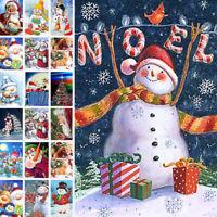 Christmas Deer Full Drill 5D Diamond Painting Cross Stitch Embroidery Decor Kit