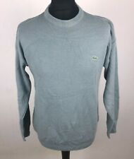 Lacoste Devanlay Woolmark Blend Sweater Men's Size S 3 Crew Neck Jumper Cyan Blu