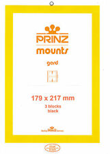 Package of 3 Prinz BLACK Mounts 179 x 217