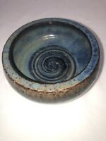 "Michael Anderson Studio Art Pottery Bornholm Denmark 6221-1, 6.5"" Across 2.75"" H"