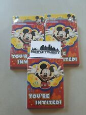 Designware Mickey mouse disney birthday Invitations thank you cards nee 24 total