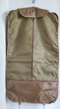 Pierre Cardin Tan Garment Bag For Suit/ Dress Folding Luggage 22 x39