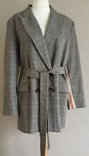 Bnwt Marks And Spencer Limited Edition Womens Check Side Stripe Jacket Size 20