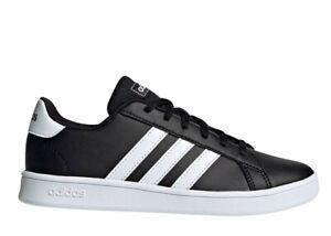 Adidas GRAND COURT K EF0102 Nero Scarpe Donna Bambini Sneakers Sportive