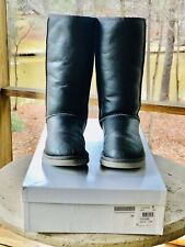 UGG Australia SPECIAL EDITION Classic Tall Metallic Pewter Size 9
