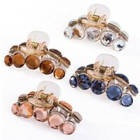 Chic Women Crystal Plastic Hair Claw Crab Clamp Barrettes Top Clip Hair Clips