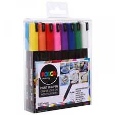 UNI POSCA MARKER PEN PC-1MR - Ultra fine 0.7 mm-Lot de 16 assortis