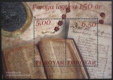 150th anniversary of Foroya Logting stamp sheet, Faroe Islands, 2002, Ref: MS434