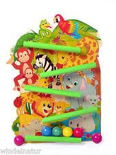 Kinder Spielzeug Kugelbahn Holz Geschenk Ostern Geburtstag Safari Dschungel Tier