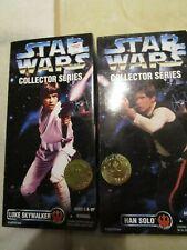 "Vintage Star Wars Collector Series Han Solo/Luke Skywalker 12"" Action Figure"