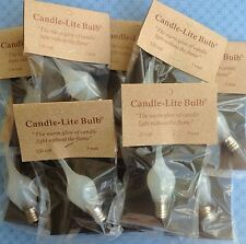 Primitive Candle-Lite Silicone Dipped Light Bulbs 3 watts 3w~ Set / Lot of 5