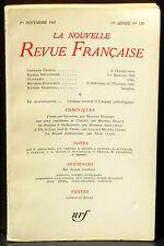 La Nouvelle revue française 179 novembre 1967 TBE