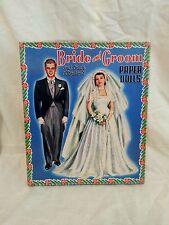 UNCUT Vintage 1952 Saalfield Bride and Groom Paper Dolls In ORG Box - COMPLETE