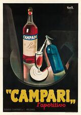 Original Vintage Poster Marcello Nizzoli Campari Aperitif Italian 2 sheets