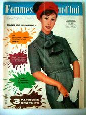 Femmes d'Aujourd'hui N°876 du 15/02/1962 Patron robe très classique