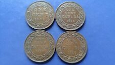 CANADA Large Cent George V Lot of 4 Coins 1906,1914,1918,1920