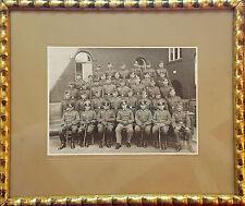 Foto 2. WK Einheit Mannschaftsbild KURZ 123 Orig. Rahmen Waschgoldleiste