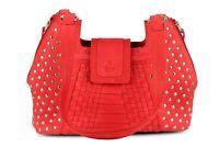 Fashion Womens Ladies Designer Genuine Leather Handbag Tote Shoulder Bag New Red